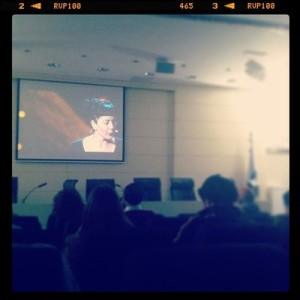 students watching a webcast of TED 2013